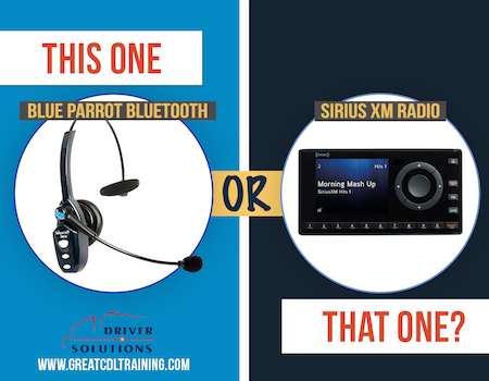 Bluetooth BlueParrott vs. Sirius XM Radio