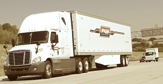 PAM Transport Truck on Highway