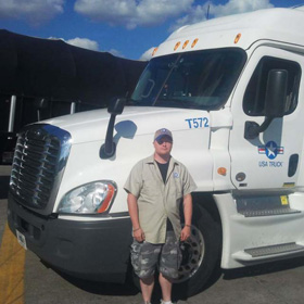 USA Truck driver trainer Timothy Brown