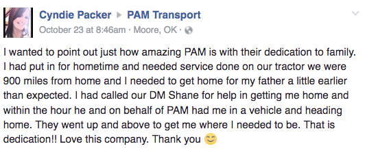 PAM Transport Review