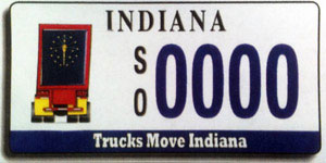 Indiana Trucker License Plate Winning Design