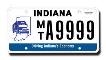 Submitted Indiana Trucker License Plate Design