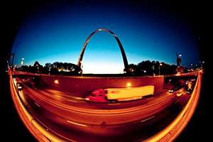 St. Louis Gateway Arch at dusk