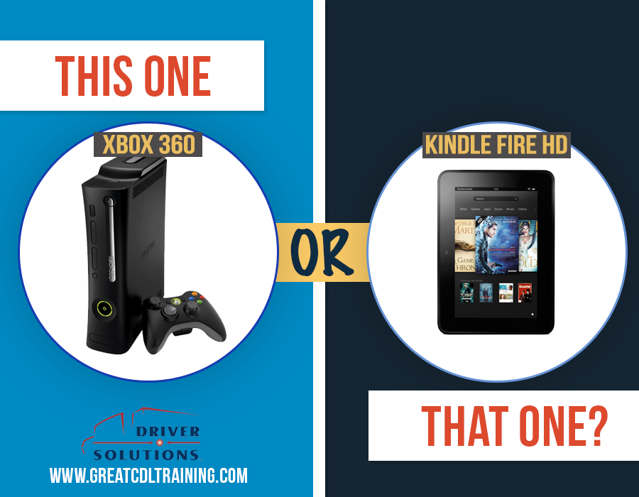 Kindle Fire HD or Xbox 360 - Father's Day Gifts for Truck