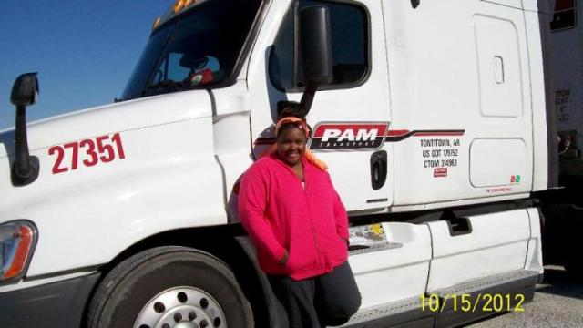 Meagan Aterberry - PAM Transport Truck Driver